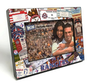MLB Texas Rangers Wooden Ticket Collage Picture Frame, Black, 10cm x 15cm /Small