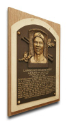 MLB Cleveland Indians Larry Doby Baseball Hall of Fame Plaque on Canvas, Medium, Brown
