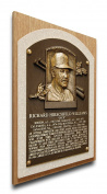 MLB Oakland Athletics Dick Williams Baseball Hall of Fame Plaque on Canvas, Medium, Brown