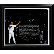 MLB New York Yankees Framed 22x26 Mariano Rivera Facsimile 'Last Game in Pinstripes' Story Stretched Canvas