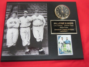 Babe Ruth Lou Gehrig Jimmie Foxx Collectors Clock Plaque w/8x10 Photo and Card