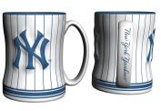 New York Yankees Coffee Mug - 410ml Sculpted, Pinstripes