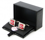 Cincinnati Reds Team Logo MLB Square Cufflinks Gift Box Set