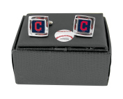 MLB Cleveland Indians Square Cuff Links