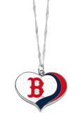 Boston Red Sox MLB Sports Team Logo Charm Gift Glitter Heart Necklace