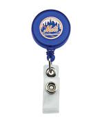 MLB New York Mets Sports Team Logo Retractable Badge Reel Id Ticket Clip
