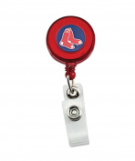 Boston Red Sox Collegiate Sports Team Logo Retractable Badge Reel Id Ticket Clip