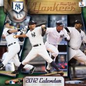 New York Yankees 2012 Wall Calendar 30cm X 30cm
