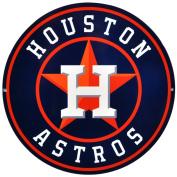 Houston Astros Lasercut Steel Logo Sign Wall Sign 30cm x 30cm