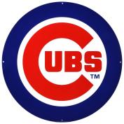 Chicago Cubs Lasercut Steel Logo Sign Wall Sign 60cm x 60cm