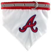 MLB Official Atlanta Braves Bandana Collar for Pets - Size Medium - Pets First Product