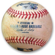 Andre Ethier Game Used Baseball 6/27/13 - Double vs. Pettibone Dodgers EK325601 - MLB Autographed Game Used Bases
