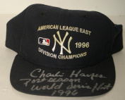 1996 Charlie Hayes, New York Yankees, Signed Game Worn World Series Cap, - JSA Certified - Game Used MLB Hats