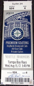 Certified Felix Hernandez Signed Mega Ticket Seattle Mariners PG 8-15-12 - PSA/DNA Authenticated - MLB Baseball Tickets