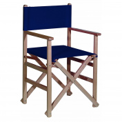 Armchair straight s/b-canvas navy blue