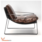Vintage Real Leather Chair Design Lounge Club Sofa Seat 457