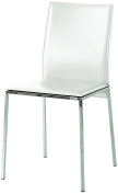 Fashion Commerce FC660 Set of Two Chairs, Faux Leather, white, 50 x 50 x 75 cm