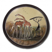 "Decoration bowl ""Giraffes"", medium, beige"