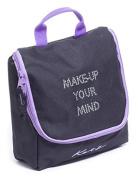 Girls Ladies Black And Purple Dance Ballet Tap Make Up Cosmetic Bag KB69 By Katz Dancewear