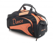 Girls Ladies Medium Sparkly Orange Dance Ballet Tap Kit Holdall Sports Bag KB88 By Katz Dancewear