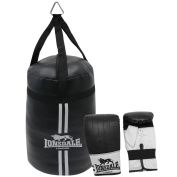 Lonsdale Mini Punch Bags Boxing Set Padded Training Gloves Mitts Accessories