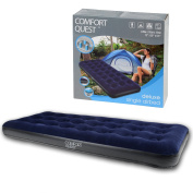 Single Airbed Inflatable Blow Up Camping Mattress Guest Air Bed Comfort Quest