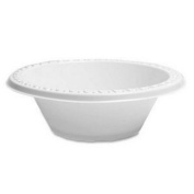 100 X White Plastic 350ml Disposable Bowls by Plastico