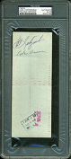 Red Sox Carl Yastrzemski Authentic Signed 1976 Red Sox Cheque PSA/DNA Slabbed