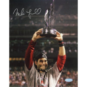 Mike Lowell with 07 WS MVP Trophy 8x10 Photograph - Licenced Sports Collectible