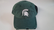 New Michigan Spartans Green Pre-Ripped Buckle Hat