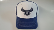 New Rice Owls White & Blue Hook and loop Mesh Hat
