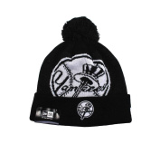 New Era Beanie Mlb New York Yankees Unisex Knit Black White Hat One Size