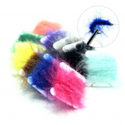 SAMS FISHING 10 Cards Fly Tying Materials Dubbing UV Polar Chenille Fibres Popular Colours Assortment