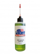 Liberty Oil, the Best 100% Synthetic Oil for Lubricating All Moving Parts of Your Fishing Reels. 120ml Bottle with 3.8cm Needle