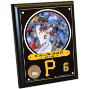 MLB Pittsburgh Pirates Starling Marte Plaque with Game Used Dirt from PNC Park, 20cm x 25cm , Navy