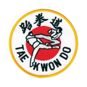 Tiger Claw Taekwondo Flying Kick Patch - 10cm dia