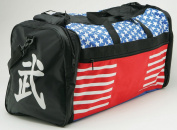 "Taekwondo Sparring Gear Martial Arts Gear Equipment Bag Tae Kwon Do Karate MMA American Flag Big Bag 33cm x 70cm x 14"""