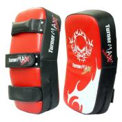 TurnerMAX Kick Thai Boxing Pads Punching Bag Red Black