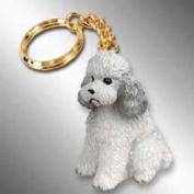 Grey Poodle Keychain