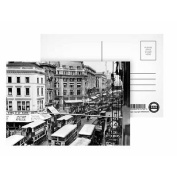 Vintage - Oxford Circus - Postcard (Pack of 8) - 15cm x 10cm - Art247 Highest Quality - Standard Size - Pack Of 8