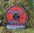 Fiddlehead - Round Red Fairy Door