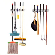 TRIXES Wall Storage Holder For Brooms Golf Clubs Brushes Mops Garden Tools Rack