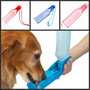 SwirlColor Potable Pet Dog Cat Water Feeding Drink Bottle Dispenser 500ml