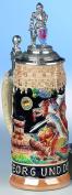 German Beer Stein St. George Knight Stein 0.5 litre tankard, beer mug