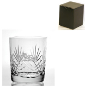 Cut Crystal 270ml Whisky Glass With Harley Davidson Design - Gift Box Included