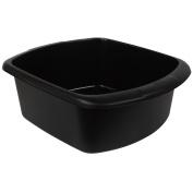New Whitefurze Kitchen Black Large Rectangular Washing Up Bowl Plastic Basin 9l