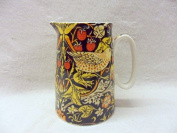 William morris strawberry thief design cream jug made for the Abbeydale collection for Heron Cross Pottery.