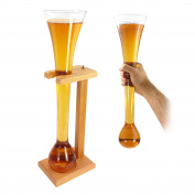 Tuff-Luv Half Yard Of Beer / Lager Ale With with Stand (Stag Gift Novelty) Glass