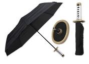 37cm Choju (longevity) white samurai handle umbrella