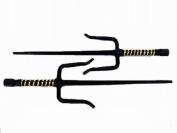 48cm Black Sai with black/gold plastic wrapped handle.